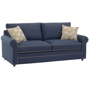 Upholstered Sleeper Sofa with Welt Cord Trim