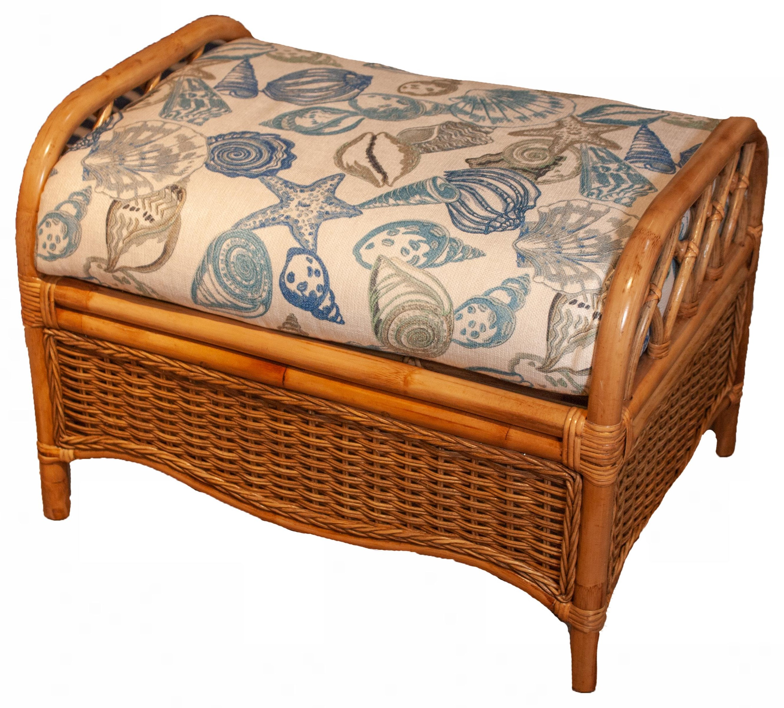 Everglade Rattan Ottoman by Braxton Culler at Esprit Decor Home Furnishings