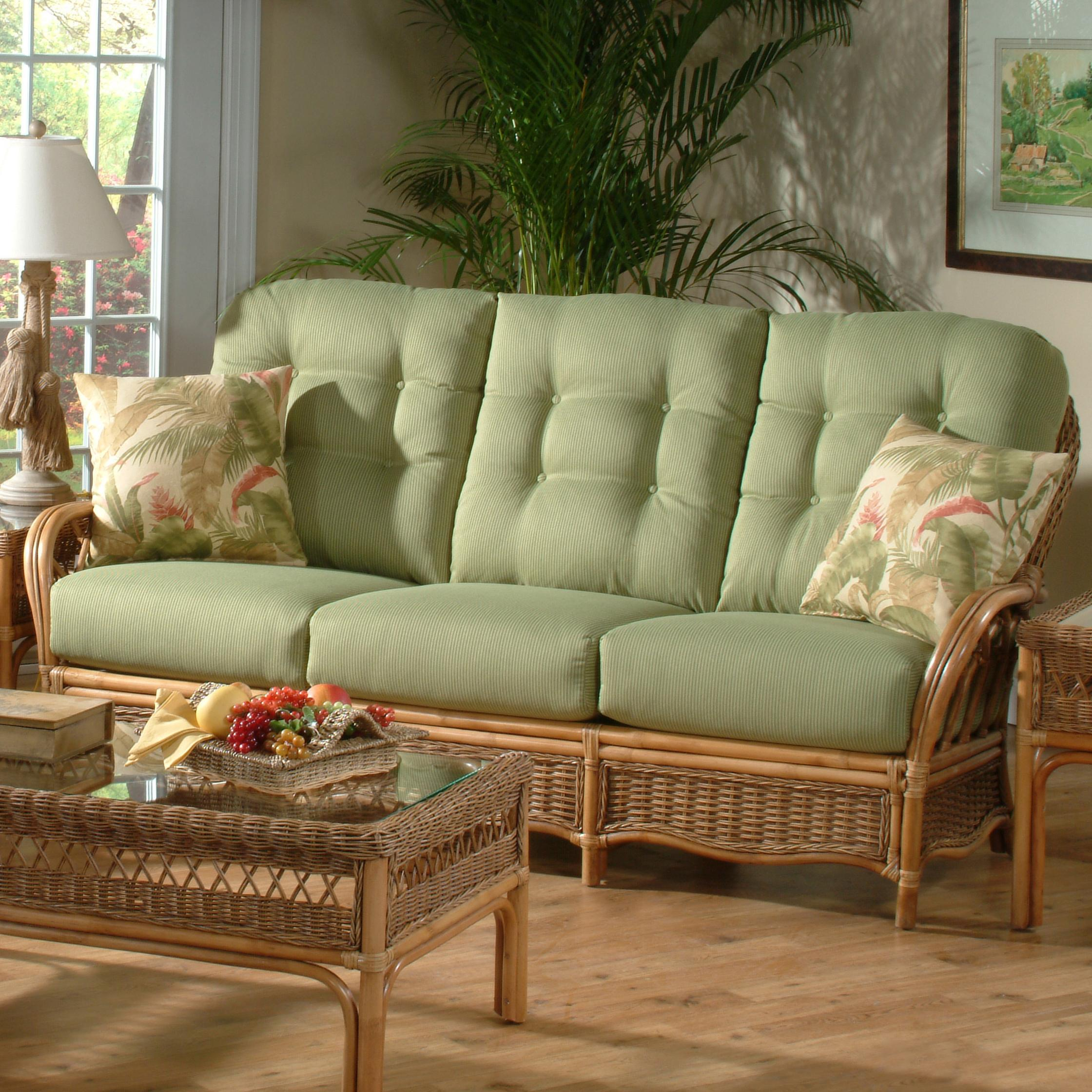 Everglade Rattan Sofa by Braxton Culler at Esprit Decor Home Furnishings