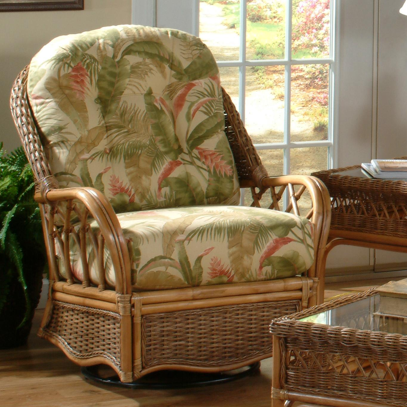 Everglade Mission Style Everglade Swivel Glider by Braxton Culler at Alison Craig Home Furnishings