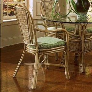Wicker Rattan Dining Arm Chair