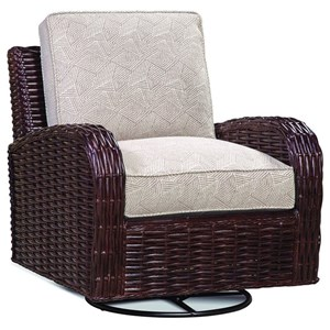 Tropical Wicker Swivel Chair