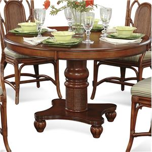 Tropical Round Pedestal Dining Table