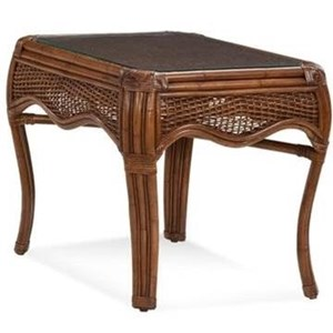 Wicker and Rattan End Table