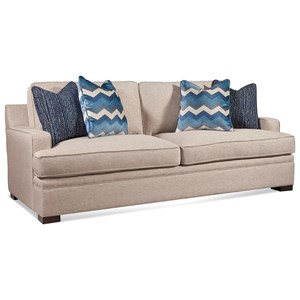 """Casual Track Arm Sofa with 7"""" Innerspring Mattress"""