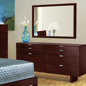 Brazil Furniture Group Violet Dresser & Mirror