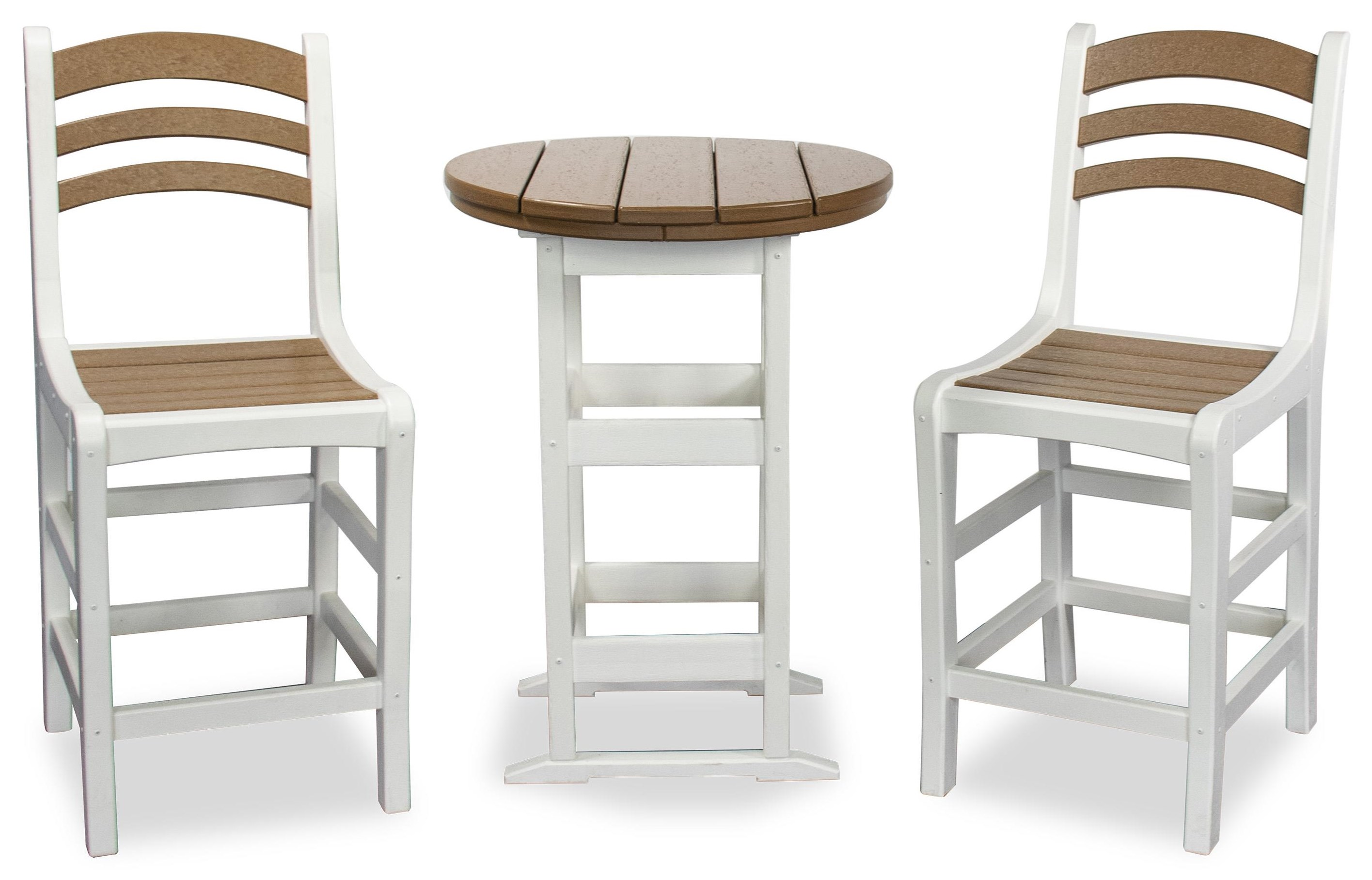 Avanti Counter Table and 2 Stools by Breezesta at Johnny Janosik