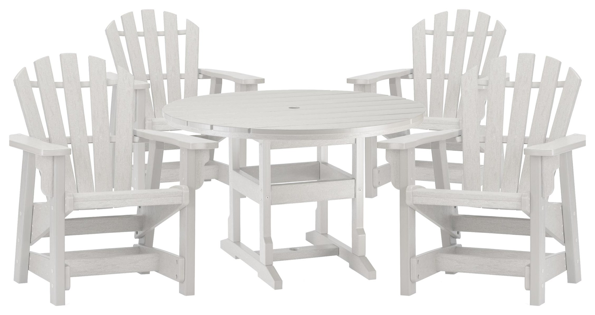 Coastal Table and 4 Chairs by Breezesta at Johnny Janosik