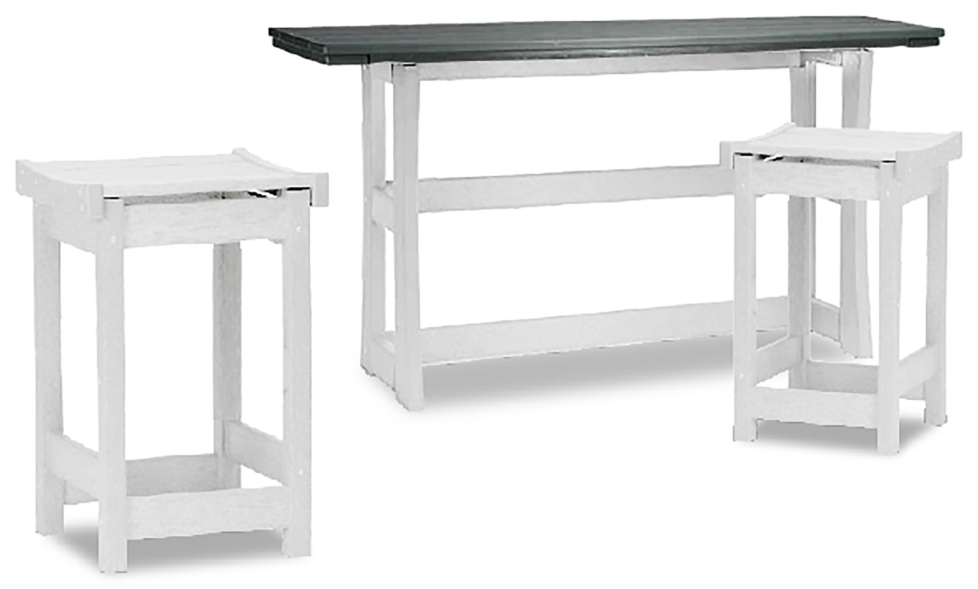 Piedmont Counter Table and 2 Stools by Breezesta at Johnny Janosik