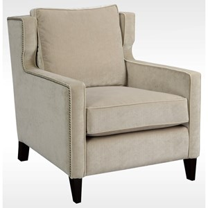 Transitional Upholstered Chair with Nailhead Trim