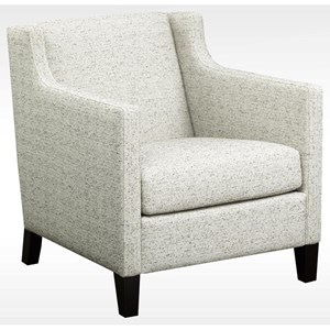 Contemporary Upholstered Chair with Exposed Wood Legs