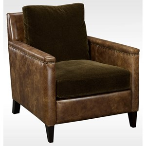 Transitional Upholstered Arm Chair with Nailhead Trim
