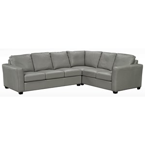 Contemporary 5 Seat Sectional with Track Arms