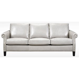 Transitional Condo Sofa with Nailhead Trim