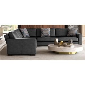 HH- 3PC Leather Sectional