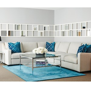 Sectional with Sloped Arms