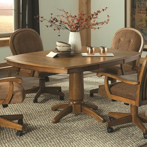 """Square Pedestal Table with 18"""" Leaf"""