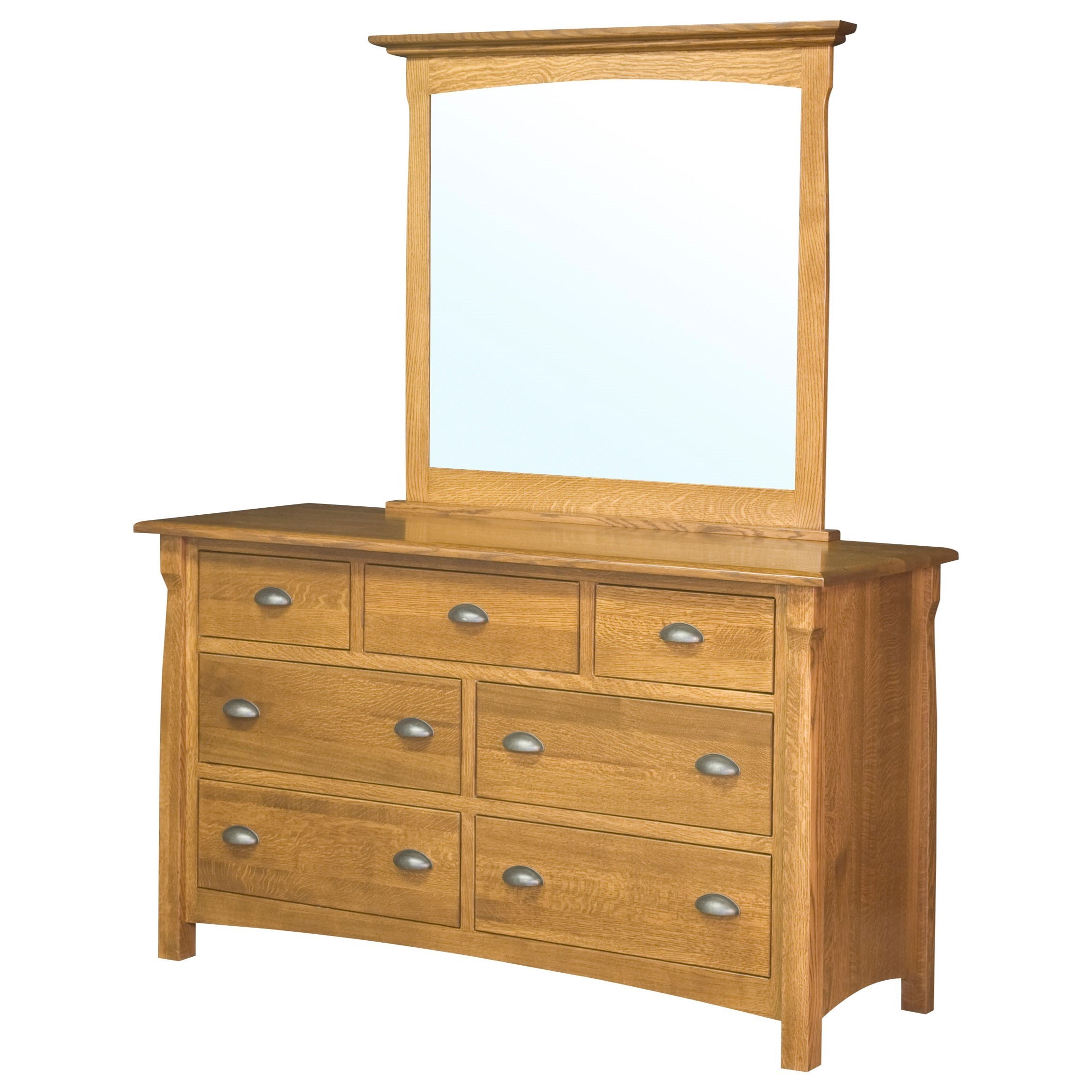 Canterbury Mirror by Brookside Furniture at Mueller Furniture