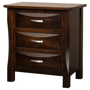 3 Drawer Solid Wood Night Stand