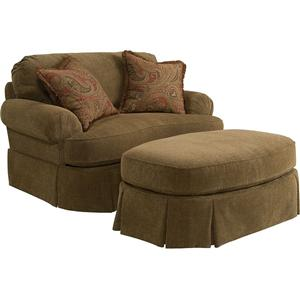 Broyhill Express McKinney Chair and 1/2 and Ottoman