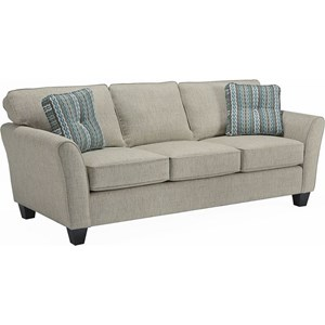 Contemporary Style Sofa with Flared Arms
