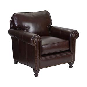 Traditional Style Chair with Exposed Wood Feet