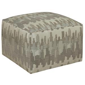 Chloe Contemporary Cube Ottoman