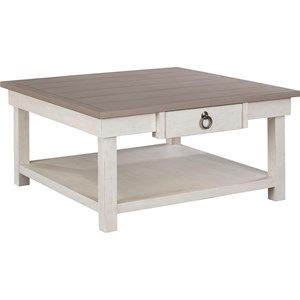 1 Drawer Square Cocktail Table