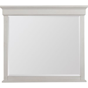 Dresser Mirror with Top Crown Molding