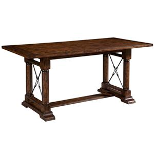 Broyhill Furniture Attic Rustic Counter Height Trestle Table