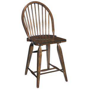 Broyhill Furniture Attic Rustic Windsor Counter Stool