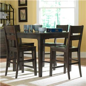 Broyhill Furniture Attic Retreat 5 Piece Pub Table and Barstool Set