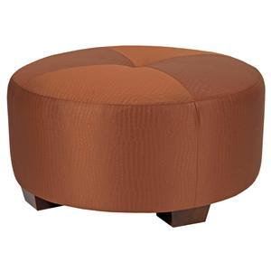 Contemporary Round Ottoman