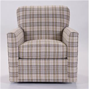 Transitional Swivel Chair with Tight Seat Back