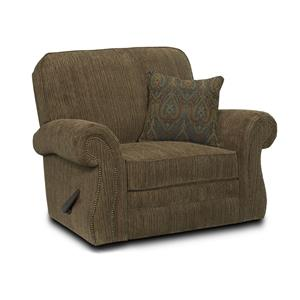 Traditional Snuggler Recliner with Wide Seat and Rolled Arms