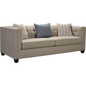 Sofa with Sleek Tuxedo Arms