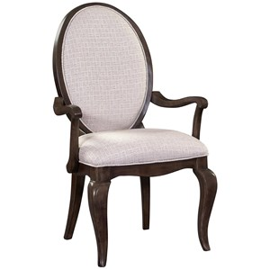 Dining Arm Chair with Oval Back