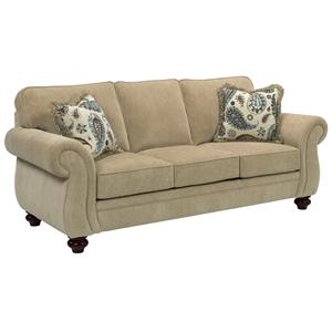 Broyhill Furniture Cassandra Traditional Stationary Sofa