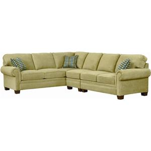 Broyhill Furniture Choices Upholstery <b>Customizable</b> Sectional Sofa