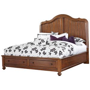 Broyhill Furniture Creswell King Panel Bed with Storage