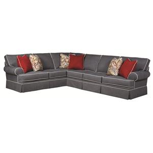 Broyhill Furniture Emily Transitional 3 Piece Sectional Sofa