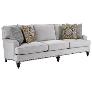 Traditional Sofa with Unique Nailhead Trim