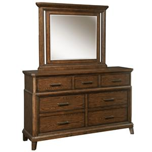Broyhill Furniture Estes Park Drawer Chesser with Dresser Mirror Set
