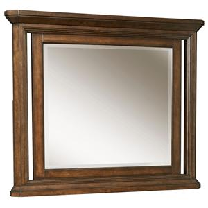 Dresser Mirror with Beveled Glass and Crown Molding