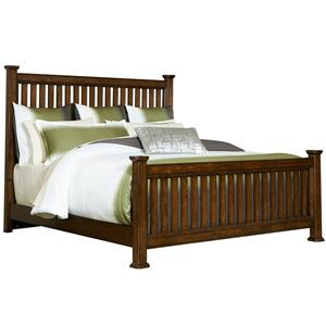 Broyhill Furniture Estes Park Queen Slat Poster Bed