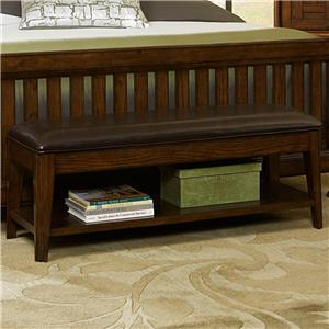 Broyhill Furniture Estes Park Upholstered Seat Storage Bench