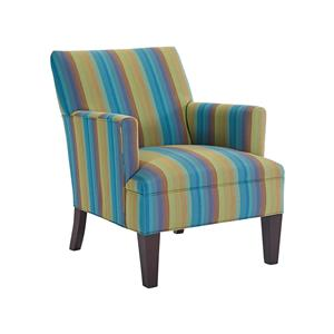 Transitional Chair with Tapered Wood Legs