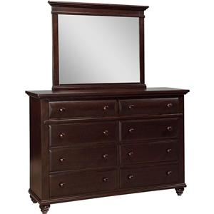 Broyhill Furniture Farnsworth Dresser and Mirror Combo