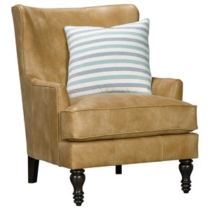 Transitional Upholstered Wing Back Chair