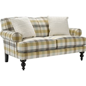 Loveseat with Expertly Turned Front Legs